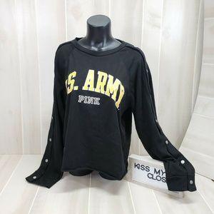 PINK Victoria's Secret U.S. Army Sweatshirt L EQ10